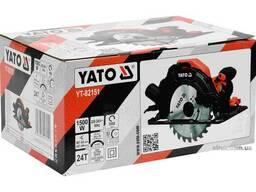 Пила дискова мережева YATO 1500 Вт диск 185 x 20 мм