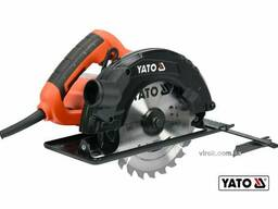 Пила дискова мережева YATO 1500 Вт диск 185 x 20 x 2. 8 мм 0-45° 65 мм