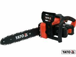 "Пила ланцюгова акумуляторна YATO 36 В (2 x Li-Ion 18 В) 2 Агод 14""/35 см"