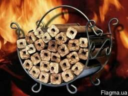 Пилети брикети топливо для камінов розниця та опт