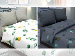 Пина колада - постельное белье с ананасами, светится в темноте (поплин, 100% хлопок)