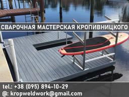Пирс, причал кладка мостик для рыбалки из металла на воде