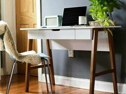 """Письменный стол """"Требл"""" для подростка из дерева в стиле loft"""