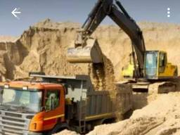Пісок будівельний на муровку, підсипку. Матеріал для доріг. Щебінь.