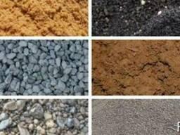 Пісок, відсів, щебінь, бутовий камінь, ґрунт, дрова. .. - фото 1