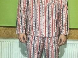 Пижама 100% Хлопок Полоса Зелёный