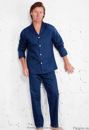 Пижама госпитальная, мужская. темно-синяя бязь.