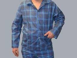 Пижама фланелевая мужская, госпитальная, брюки, куртка,