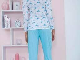 Пижама женская 129R7885 цвет Бело-голубой