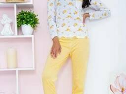 Пижама женская 129R7885 цвет Бело-оранжевый