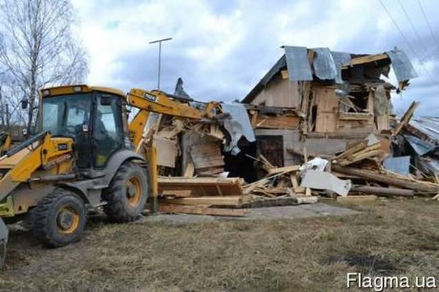 Демонтаж ветхих строений, старых зданий, фундаменты в Одессе