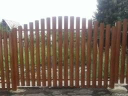 Забор из евроштакета с установкой в Донецке