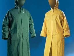 Плащ влагозащитный из ПВХ, желтый, зеленый, синий