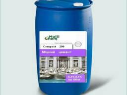 Пластификатор бетона, тротуарной плитки Compact 200. Для увеличения прочности, бочка 200 л