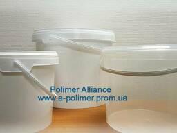 Пластиковое ведро пищевое 10 л с ручкой с крышкой Украина
