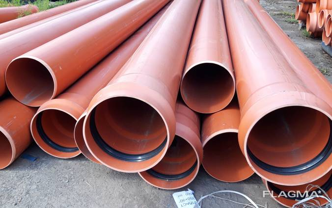 Пластиковые канализационные трубы пвх 160 200, 250, 315, 400