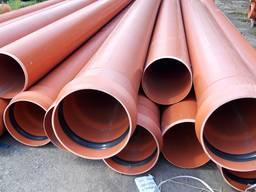Пластиковые канализационные трубы пвх 160 200, 250, 315, 400 - фото 1