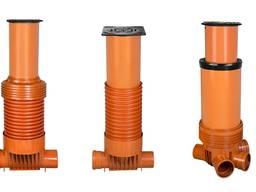 Пластиковые колодцы канализационные дренажные 315, 400.