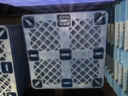 Пластиковые поддоны 105*105 складываются 1в1 под 1000кг динамика