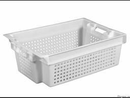 Пищевой пластиковый ящик молочный 600 x 400 x 200