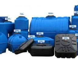 Пластиковые ёмкости(бочки) для воды, душ от 100 до 5000 лит.