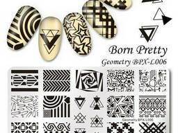 Пластина для стемпинга Геометрия, пазлы, звёзды, BPX-L006