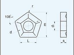 Пластина пятигранная 10124-160612 ГОСТ 19065-80 10124 (PNMM)
