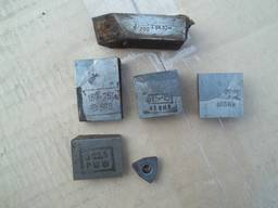 Пластины твердосплавные для фрез, с хранения (пр-ва СССР).