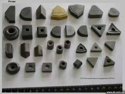 Пластины твердосплавные, резцы для обработки колесных пар