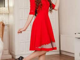 Платье красное дерин артикул 1769 Турция
