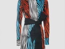 Платье с рисунком зебры
