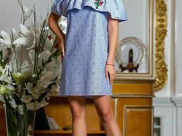Платье сарафан с открытыми плечами 42-48, доставка по Украине
