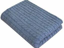 Плед Soft коси Синій меланж 140х180 SKL58-252220