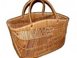"Плетеная сумка корзина ""с горбиком"" 067-34"