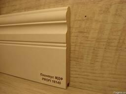 Плинтус МДФ белый высокий 16х145х2800мм.