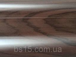 Плинтус с кабель каналом и мягким краем BS25 Тёмный венге