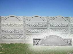 Плита еврозабора «Камин арка глухая» (верх)