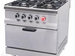 Плита газовая промышленная 4-х конфорочная с духовкой