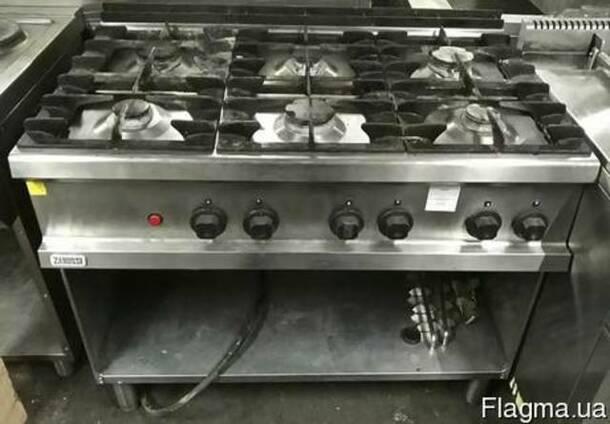 Плита газовая промышленная б/у Zanussi MCV/G3 на 6 конфорок