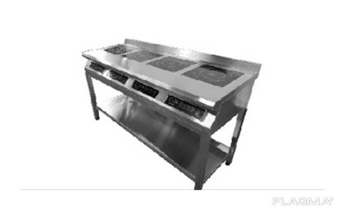 Плита индукционная 4-комфорочная 3,5 кВт напольная (удлиненная)
