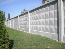 Плита забора бетонная 4000 мм ЗП 400-8
