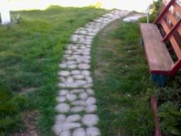 Плитка для садовой дорожки Травница, булыжник 50х50х7, 5см