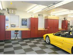 Плитка ПВХ долговечное покрытие пола для гаража, спортзала, выставки магазина