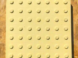 """Плитка тактильная бетонная """"внимание"""" 300х300х6,0 мм"""