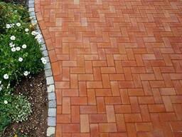 Плитка тротуарная Брусчатка 200x100x60 мм вишня