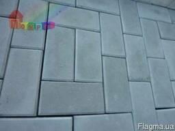 Плитка тротуарная Кирпич cерая 40х100х200 мм