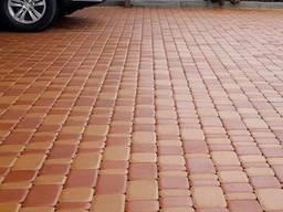 Плитка тротуарная Старый Город 60 мм с фаской оранжевая, желтая, белая