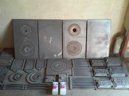 Плиты чугунные печные, колосники, дверцы, решетки и другое