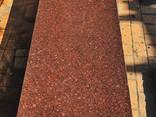 Плиты из красного гранита в полосе - фото 1