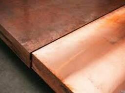 Плиты медные М2-М-3, толщиной 20-95 мм - фото 1